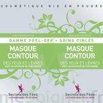 Secrets des Fées Masque Contour des Yeux et Lèvres Peel-Off à Carbon-Blanc