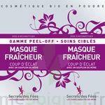 Secrets des Fées Masque Fraicheur Coup d'Eclat Peel-Off à Carbon-Blanc