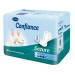 CONFIANCE SECURE Protection anatomique absorption 6 Gouttes à Carbon-Blanc