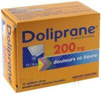 DOLIPRANE 200 mg Poudre pour solution buvable en sachet-dose B/12 à Carbon-Blanc