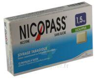 Nicopass 1,5 mg Pastille eucalyptus sans sucre Plq/12 à Carbon-Blanc