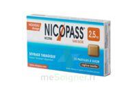 Nicopass 2,5 mg Pastille menthe fraîcheur sans sucre Plq/12 à Carbon-Blanc