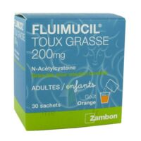 FLUIMUCIL EXPECTORANT ACETYLCYSTEINE 200 mg SANS SUCRE, granulés pour solution buvable en sachet édulcorés à l'aspartam et au sorbitol à Carbon-Blanc