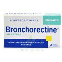 BRONCHORECTINE AU CITRAL ENFANTS, suppositoire à Carbon-Blanc
