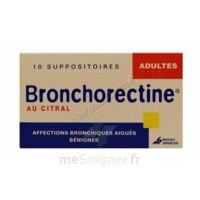 BRONCHORECTINE AU CITRAL ADULTES, suppositoire à Carbon-Blanc