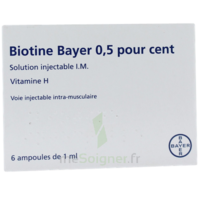 BIOTINE BAYER 0,5 POUR CENT, solution injectable I.M. à Carbon-Blanc
