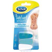 Scholl Velvet Smooth Ongles Sublimes kit de remplacement à Carbon-Blanc