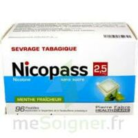 Nicopass 2,5 mg Pastille menthe fraîcheur sans sucre Plq/96 à Carbon-Blanc