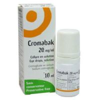 CROMABAK 20 mg/ml, collyre en solution à Carbon-Blanc