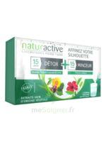 Naturactive Détox Stick Fluide 15 Sticks + Minceur Stick Fluide 15 Sticks à Carbon-Blanc