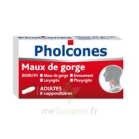 PHOLCONES BISMUTH ADULTES, suppositoire à Carbon-Blanc