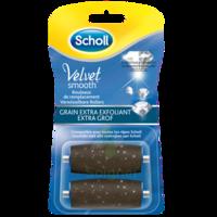 Scholl Velvet Smooth Rouleaux De Remplacement  Grain Extra Exfoliant à Carbon-Blanc