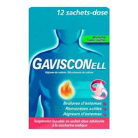GAVISCONELL Suspension buvable sachet-dose menthe sans sucre 12Sach/10ml à Carbon-Blanc