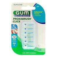 GUM PROXABRUSH CLICK, 1,6 mm, bleu , blister 6 à Carbon-Blanc