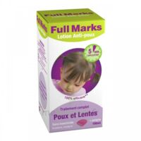 Full Marks Lotion antipoux et lentes 100ml+peigne à Carbon-Blanc