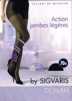 SIGVARIS DELILAH FR chaussettes 70D marine T2 à Carbon-Blanc