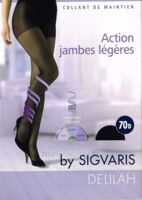 SIGVARIS DELILAH FR chaussettes 70D marine T3 à Carbon-Blanc