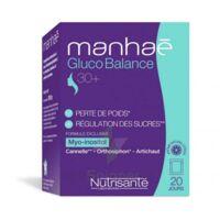 Manhaé Gluco Balance Poudre 20 Sachets à Carbon-Blanc